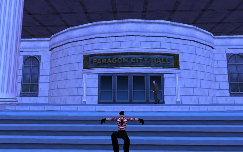 City of Heroes / Villains has civilians that walk around and do their thing, regardless of what you are up to.
