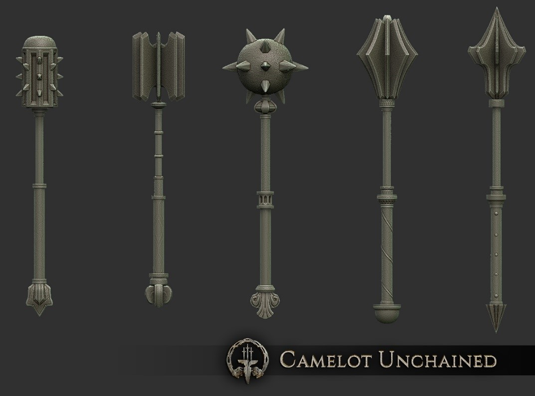 Camelot Unchained High poly sculpts of those concepts showing the transition