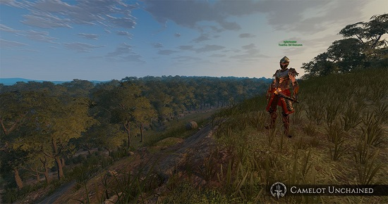 Camelot Unchained An in game landscape with a view of a thick forest