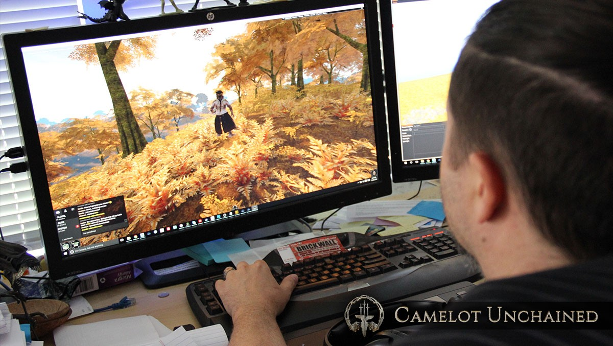 Tyler creating a whole new biome to showcased at Dragon Con.