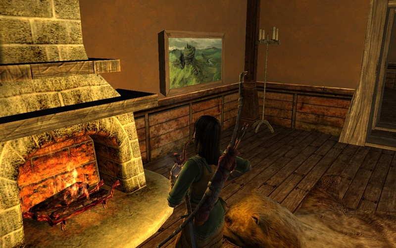 Enjoying a pipe in front of the fireplace. - MMORPG.com Galleries