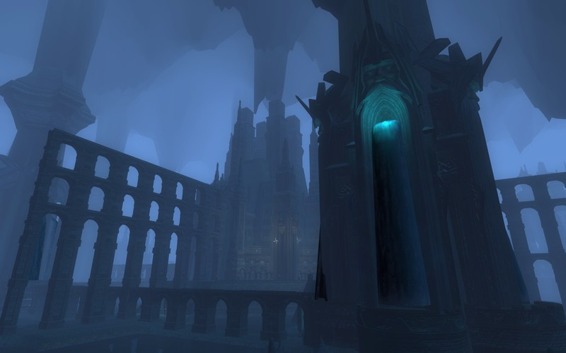 a shot inside the waterworks deep within moria mmorpg
