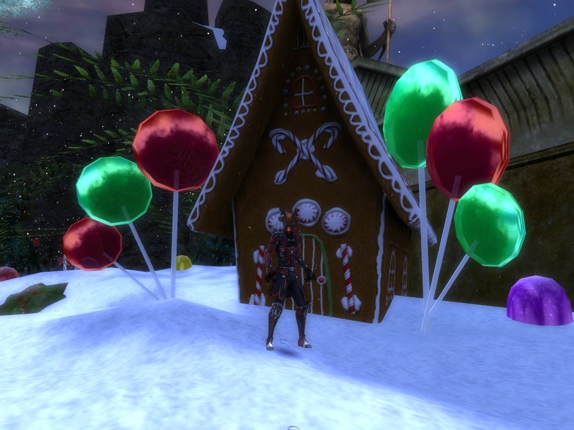 Guild Wars Nightfall - Gingerbread House, Wintersday
