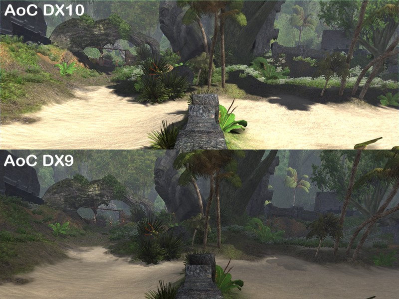 Age of Conan: Unchained - Dx10 comparison - View distance