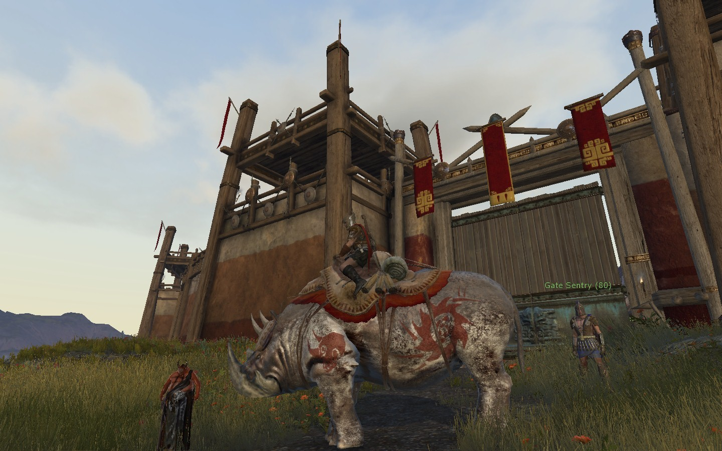 Age of Conan: Unchained - Killer Rhino at Guild City in Poitain