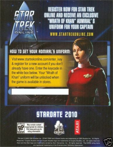 Wrath of Khan Admirals Uniform info