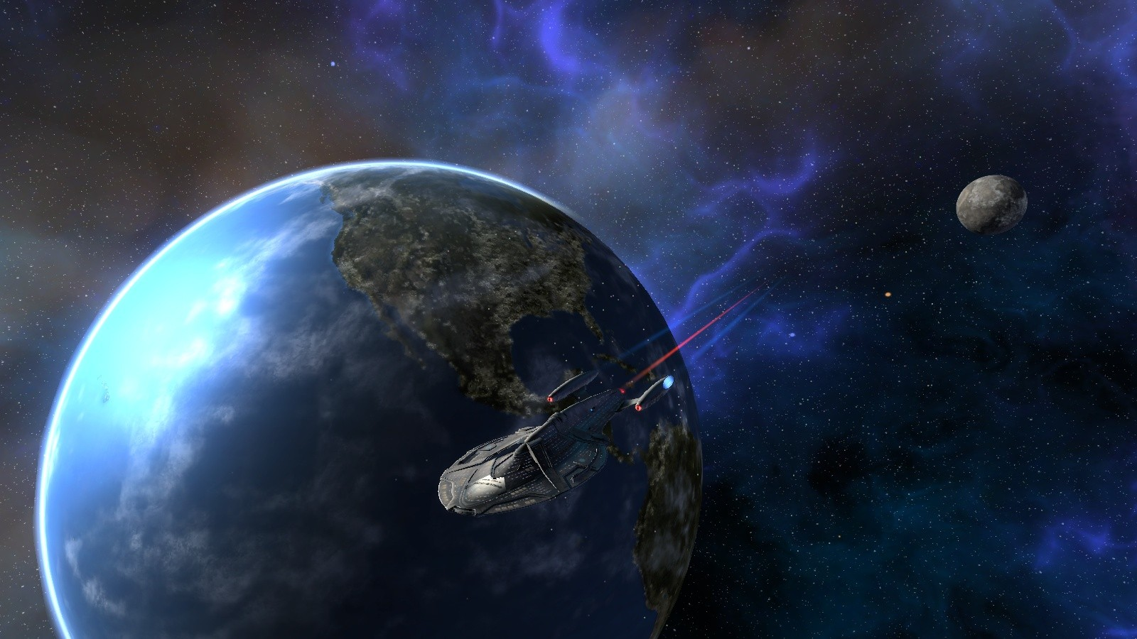 Star Trek Online - My ship. Another great view.