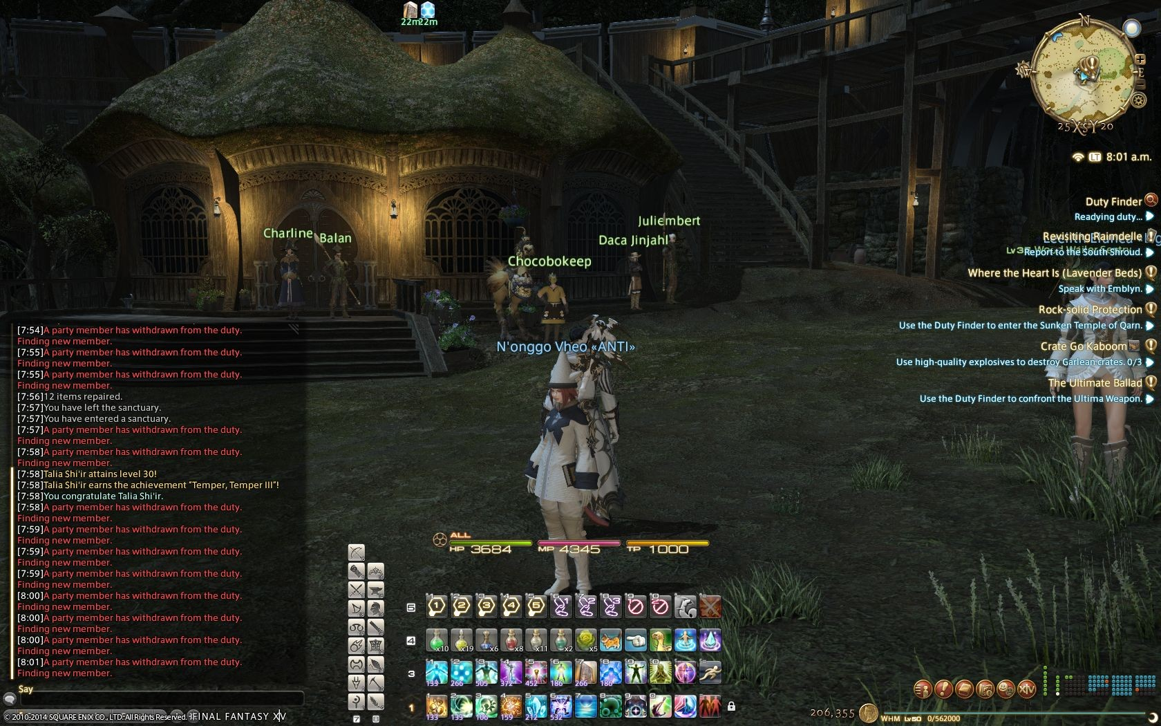 Final Fantasy XIV: A Realm Reborn - FFXIV's awesome queue system where one player can screw it up for 23 others.