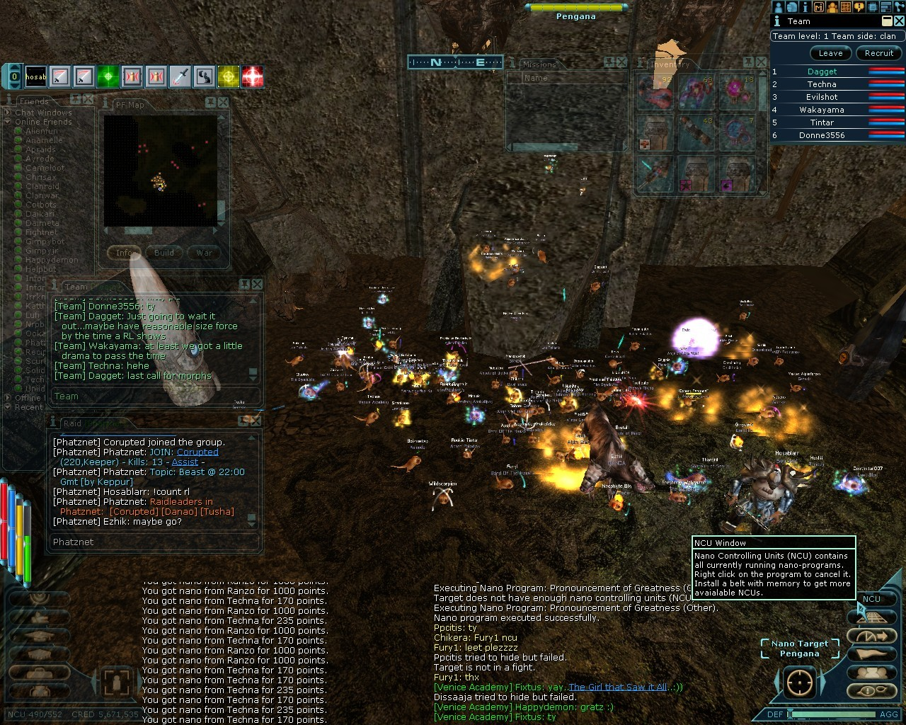Anarchy Online - Leet Raid forming