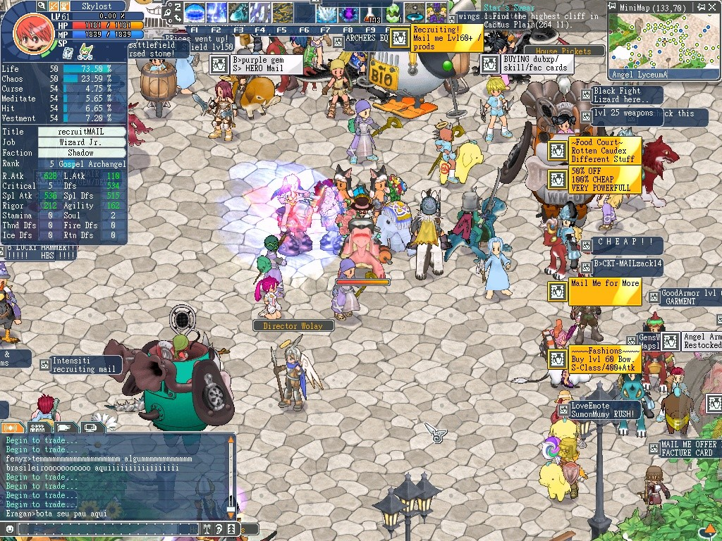 Angels Online - Me and some guild members posing in the Main City