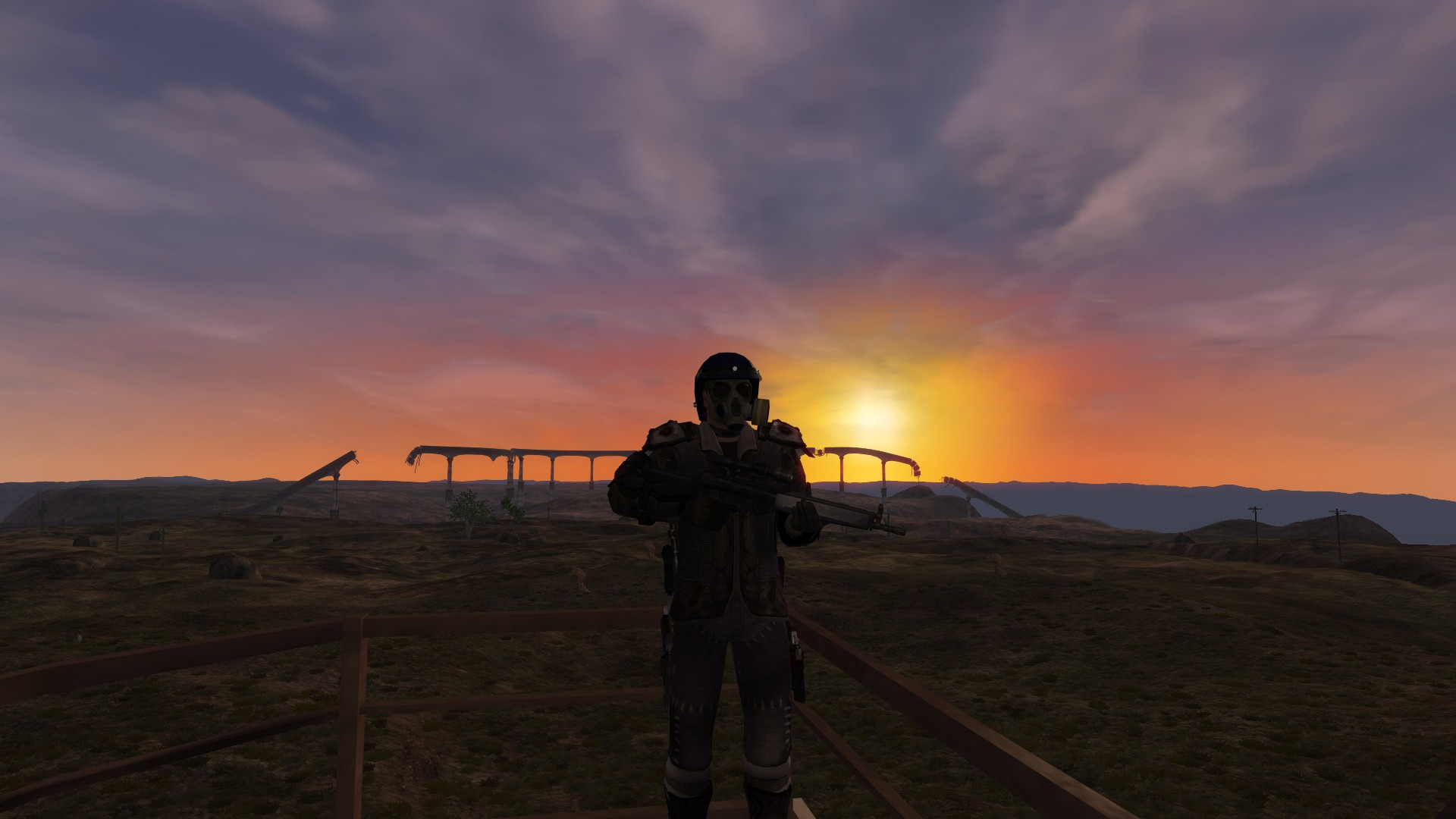 Fallen Earth - Watching the sunset on the watchtower at Watchtower 2