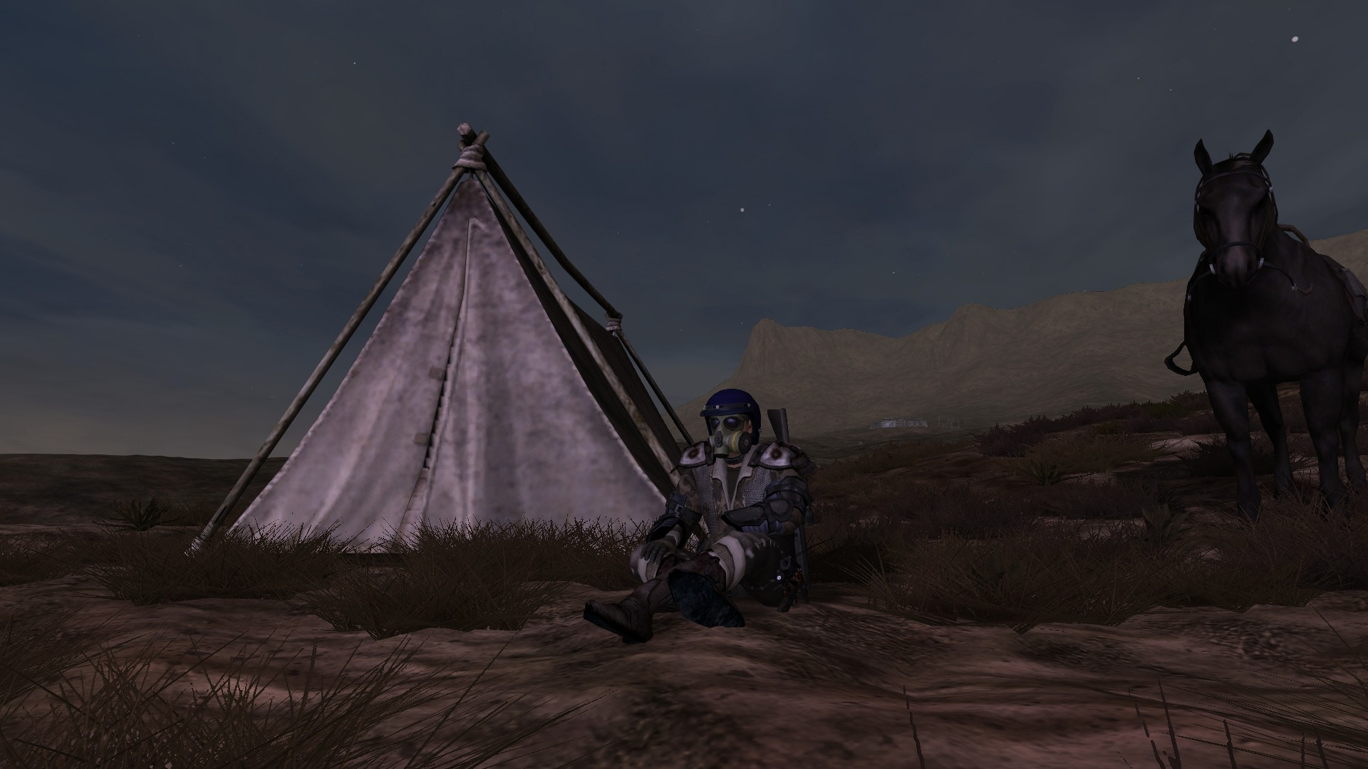 Fallen Earth - Fallen Earth - Sitting at a Pop tent craftable camp