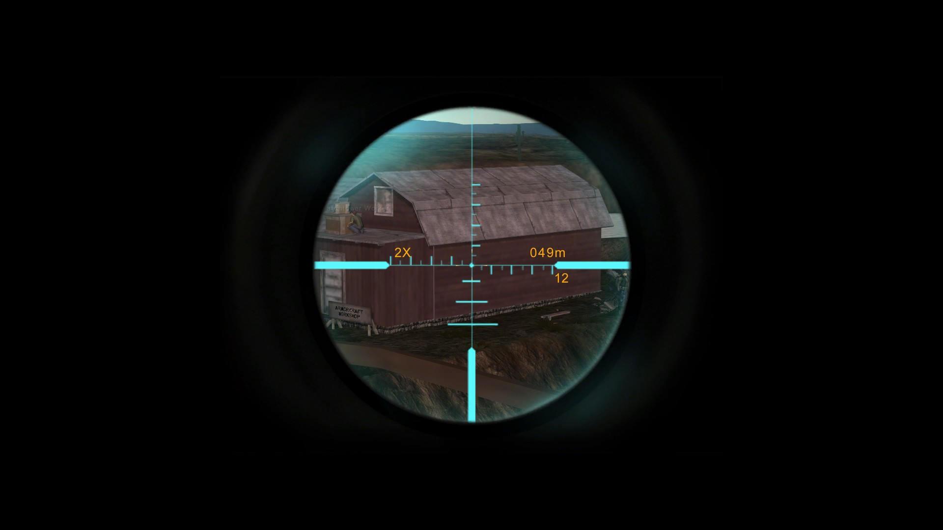 Fallen Earth - Hitting the broad side of a barn with a 4x scoped battle rifle