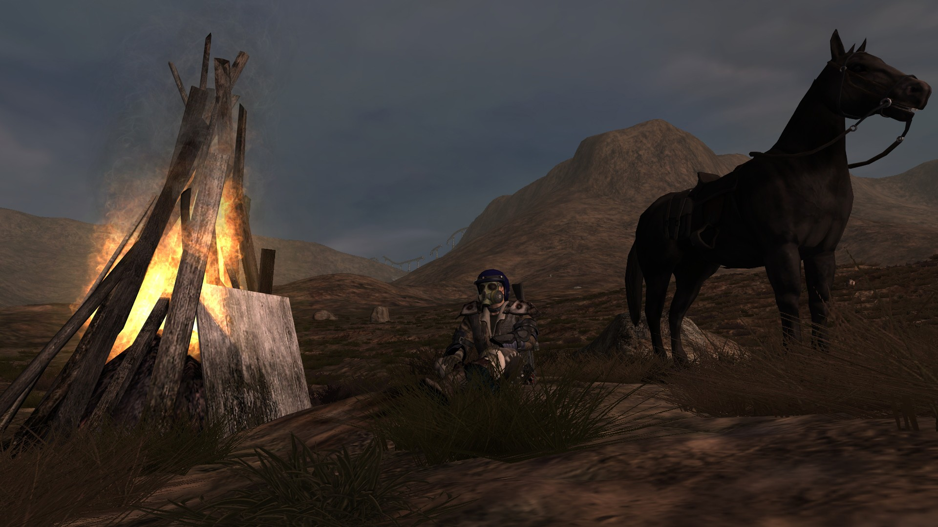 Fallen Earth - Fallen Earth - Sitting at a Campfire craftable camp