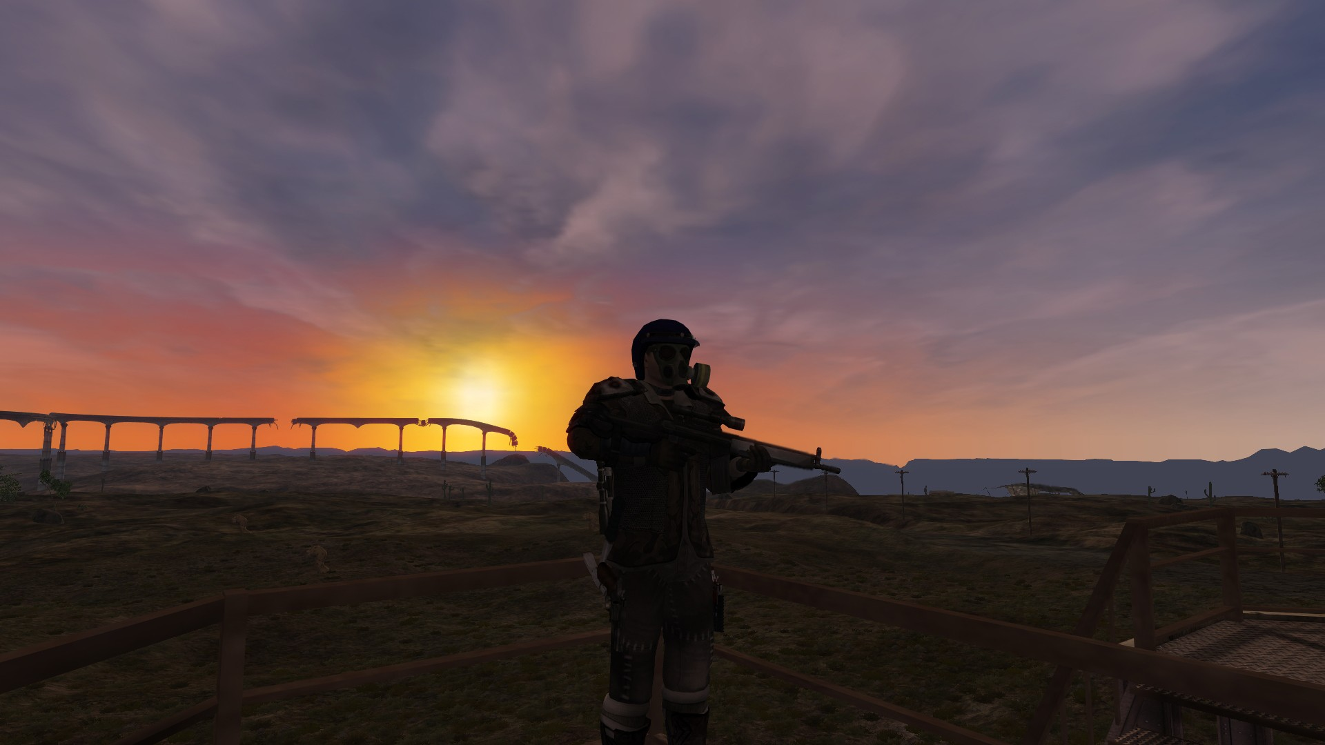 Fallen Earth - Watching the sunset on the watchtower at Watchtower 1
