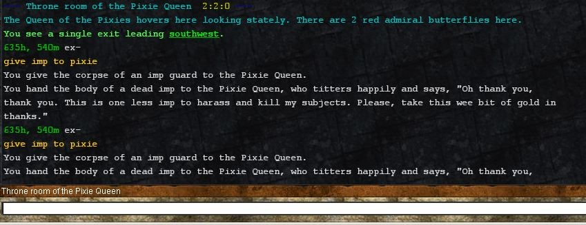 Giving Imps to Pixie Queen