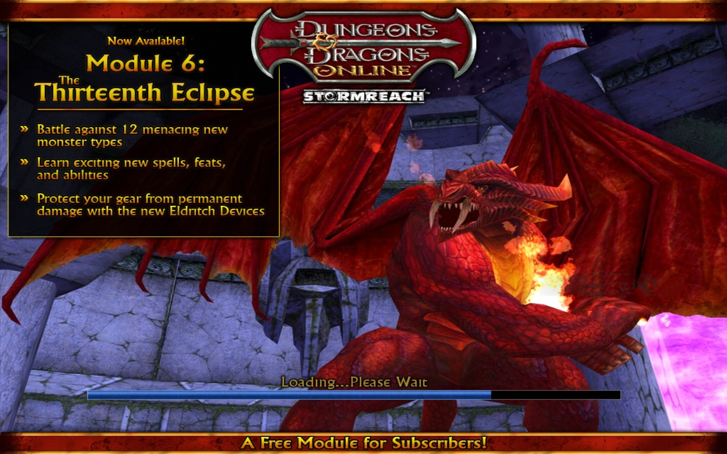 Dungeons &amp; Dragons Online - Mod 6 Splash Screen