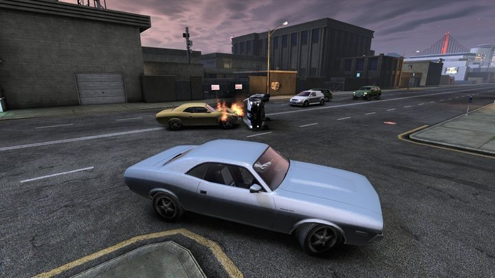 APB: Reloaded - Mustang with my car smashed sideways