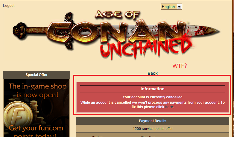 Age of Conan: Unchained - I have to sub to buy points?  Thats nuts!!!