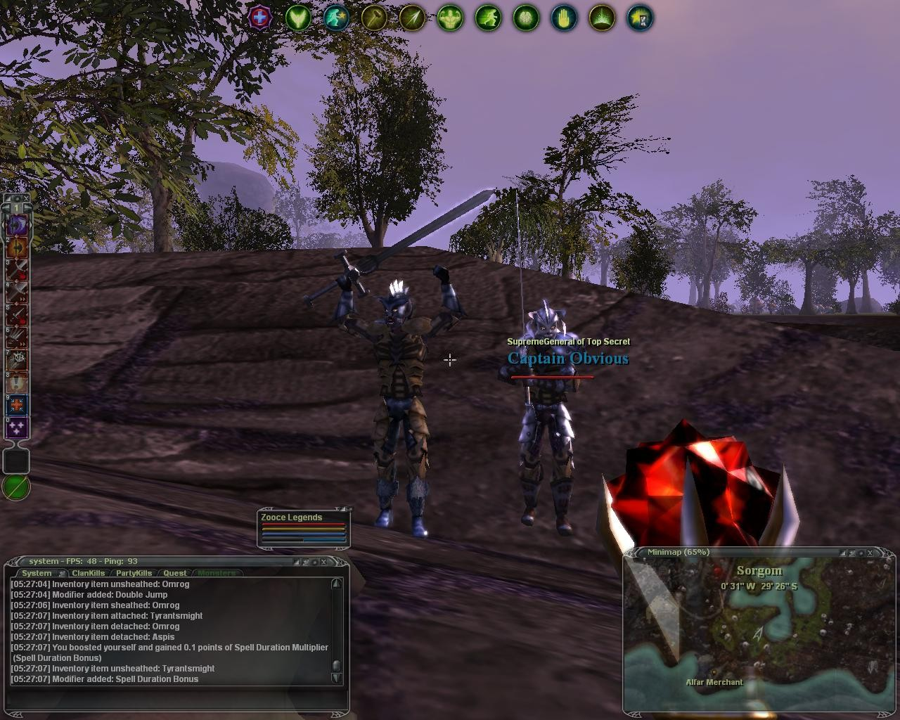 Darkfall - These two would later kill me.  Welcome to Darkfall.