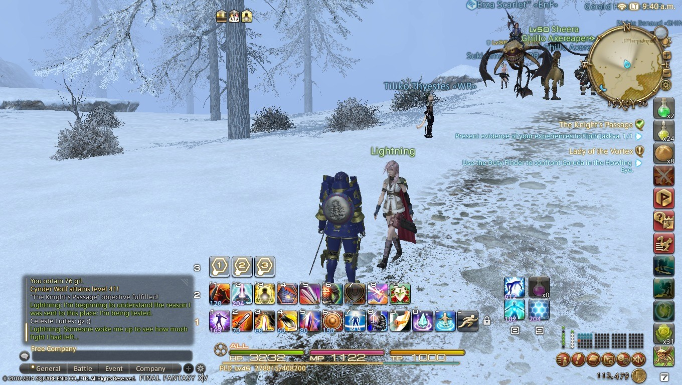 Final Fantasy XIV: A Realm Reborn - Some pictures of lightning event