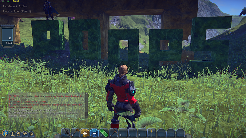 Landmark - I hereby present to you what the fine and fair folk of Landmark are building first! (It says poops)