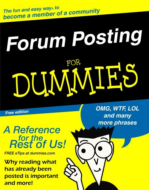 Forum posting for Dummies