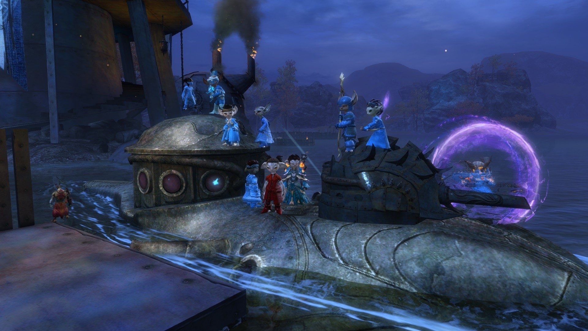 GW2-Asuran guildies taking over an Asuran submarine!
