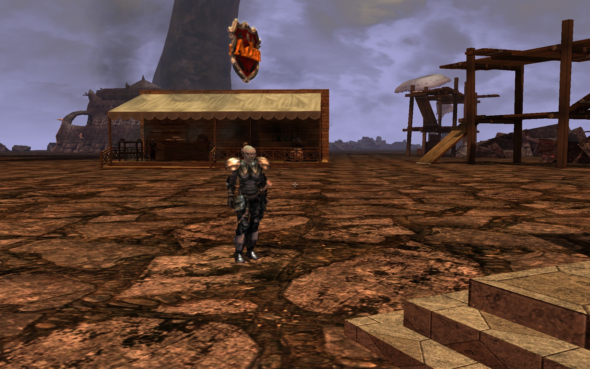 Darkfall - Talking to an Admin in the guild city...