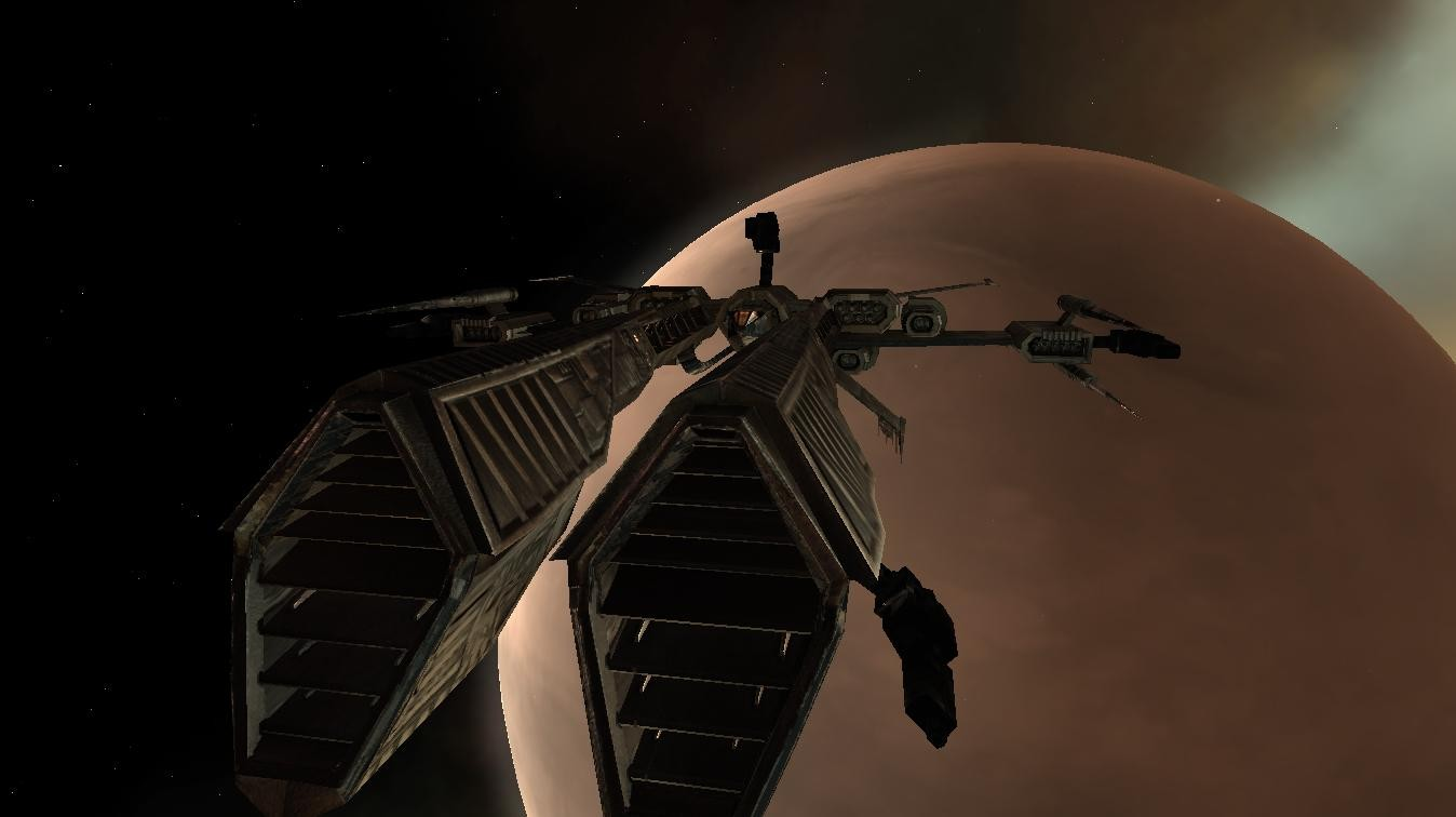 EVE Online - Rifter ship from the Minmatar
