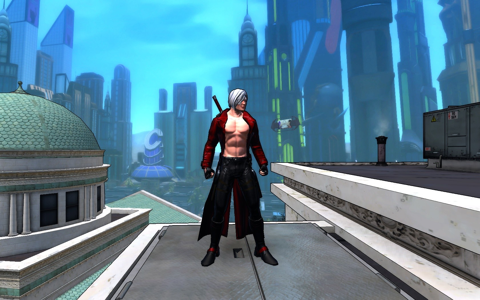 Champions Online - Dante from Devil May Cry (this is his DMC2 outfit) meets Champions Online