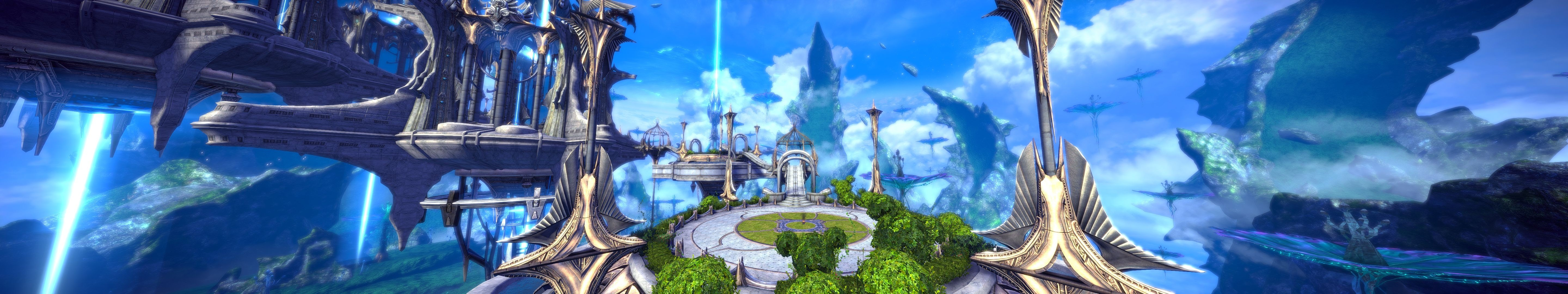 TERA - My first time through Skygarden. Looks like such a nice vacation spot. 3 monitors required to view fullscreen without scrolling left to right.