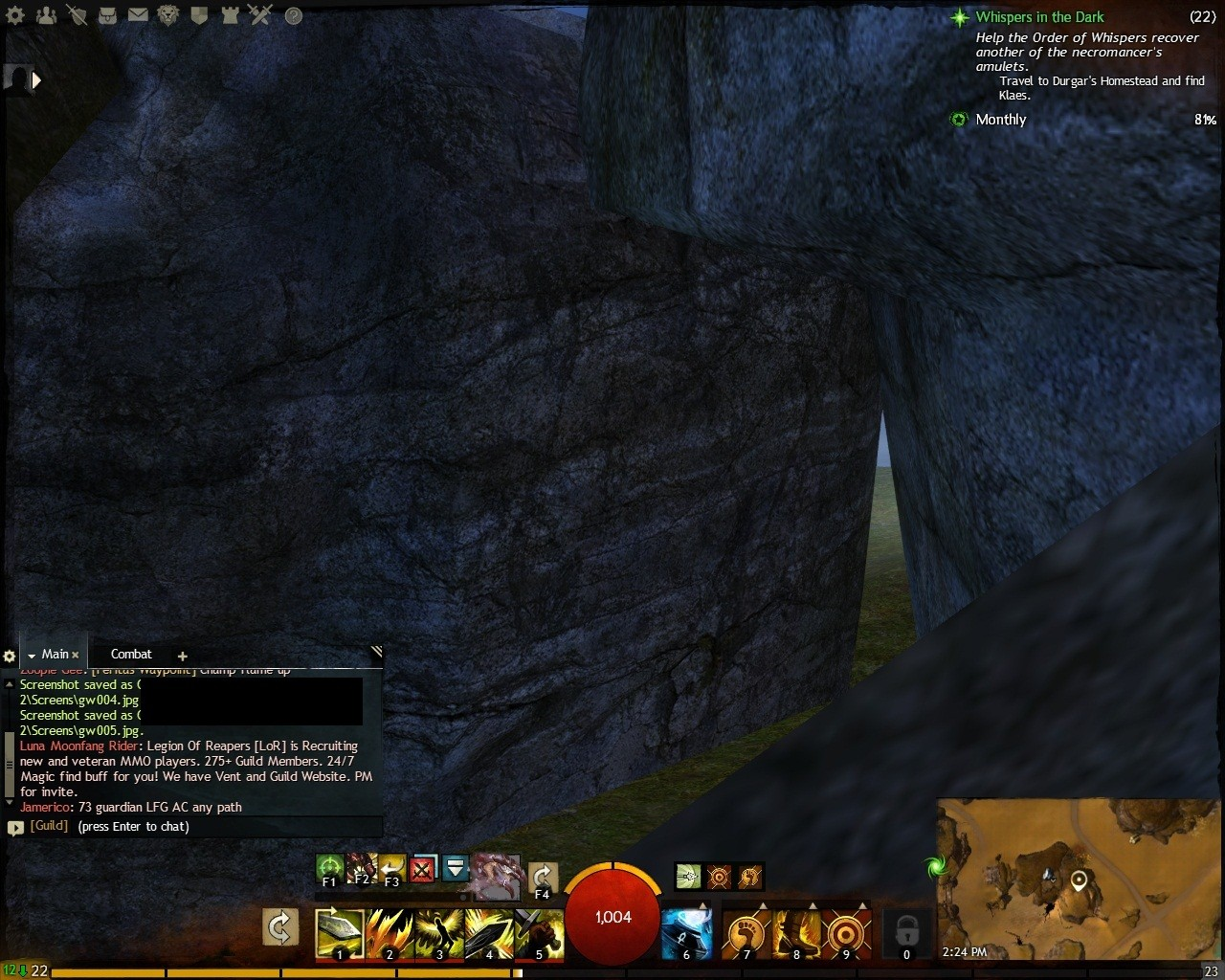 Guild Wars 2 - near clipping plane bug