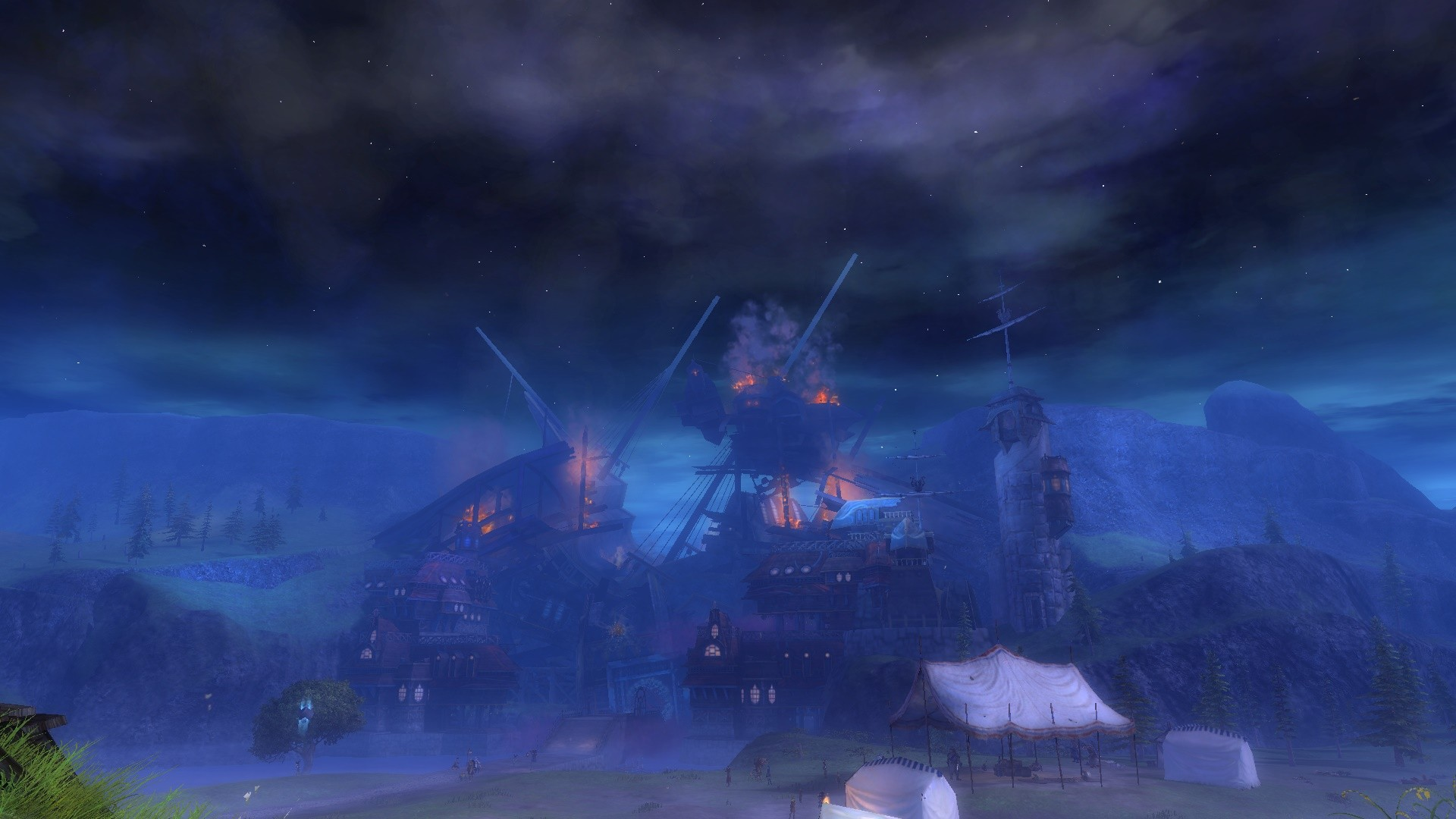 GW2 Lions Arch on fire :(