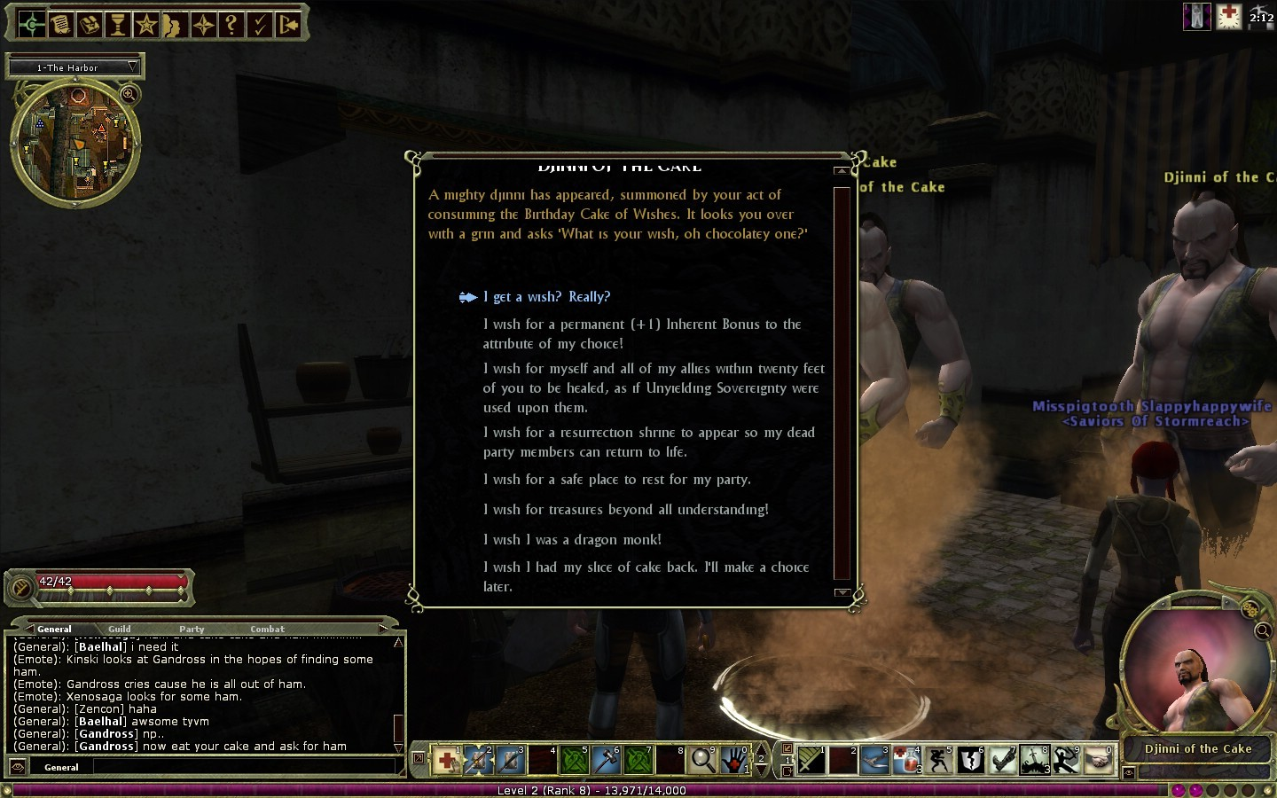 Dungeons & Dragons Online - DDO 6.1 Djinni Chat Box