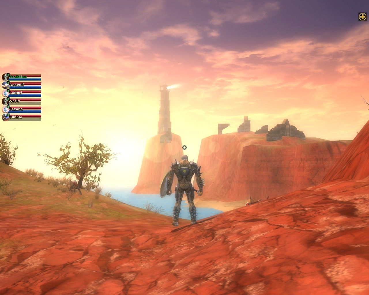 Dungeons & Dragons Online - sunset at the lighthouse