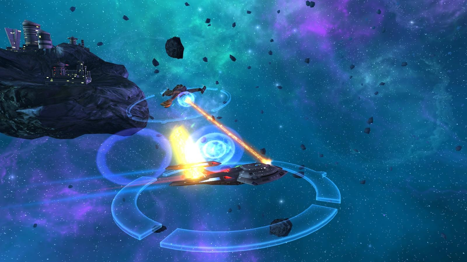 Star Trek Online - The U.S.S Harrison defends a Federation lab against Klingon aggresors.