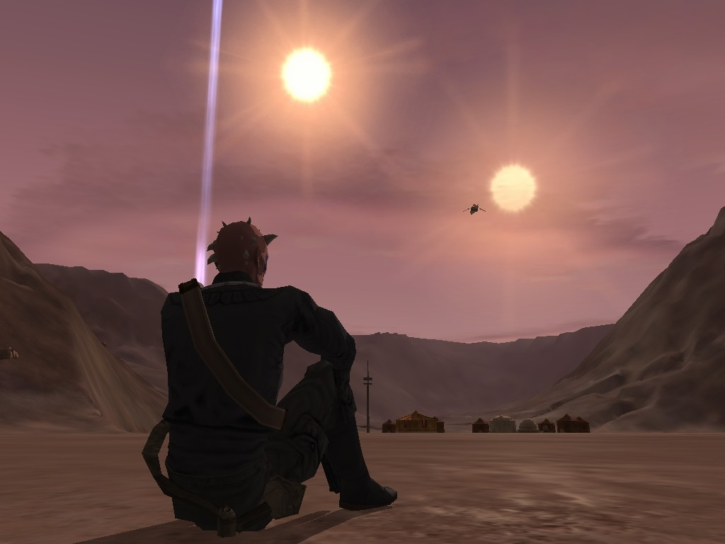 Star Wars Galaxies - Resting outside Mos Eisley in my new favorite game!!  :)