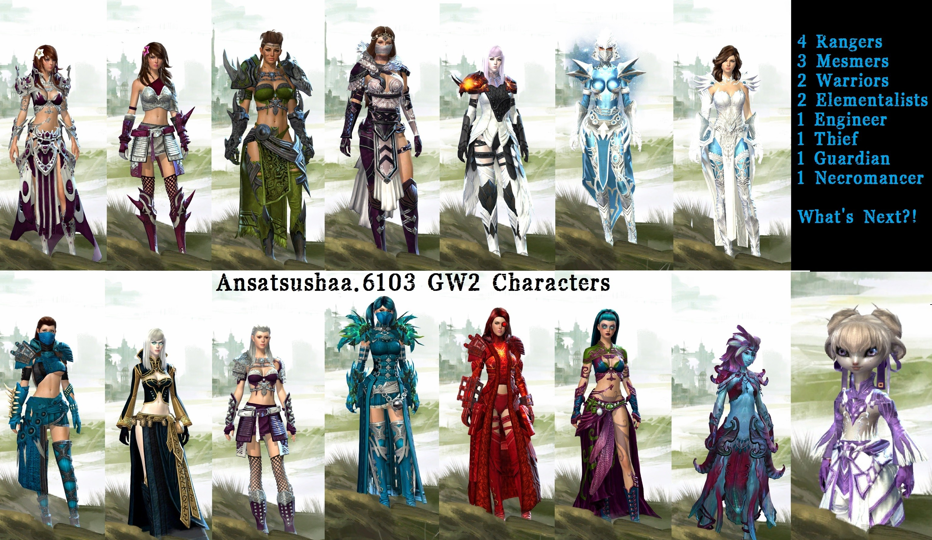 Guild Wars 2 - My gw2 characters atm