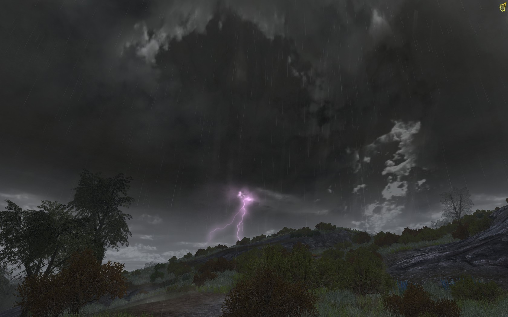 Lord of the Rings Online - Lightning storm on the plains of Rohan