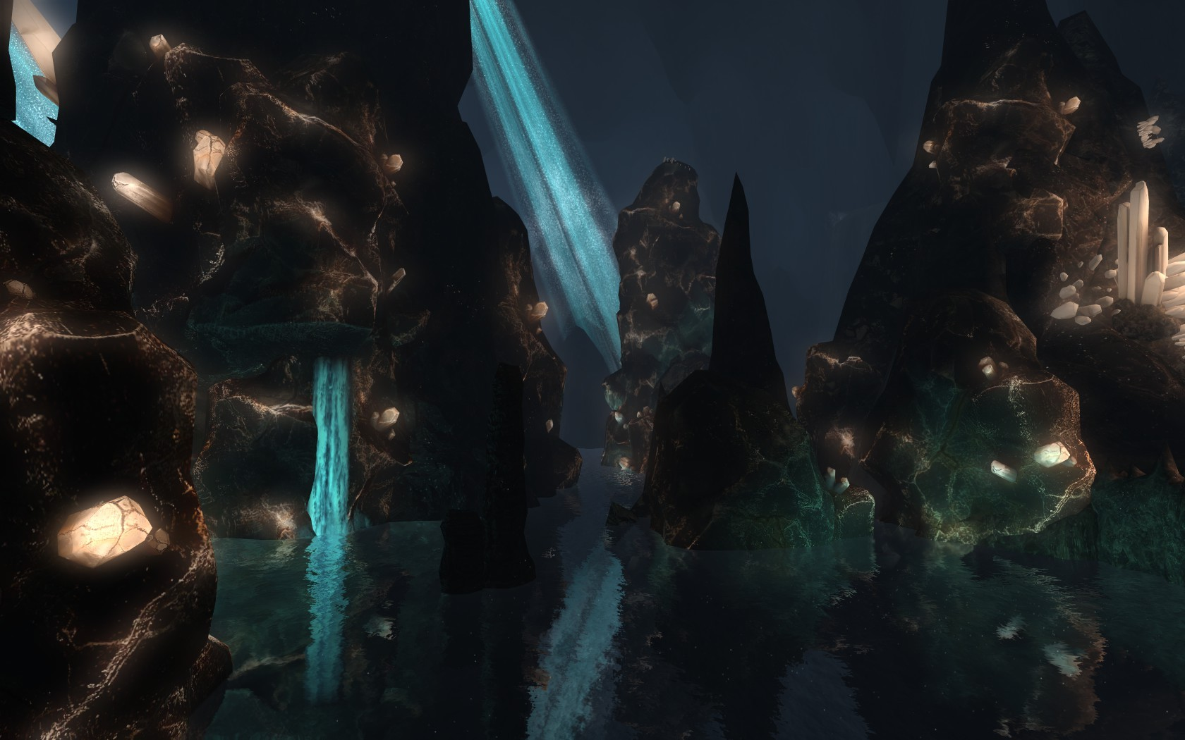Lord of the Rings Online - The beautiful caves of Helms Deep
