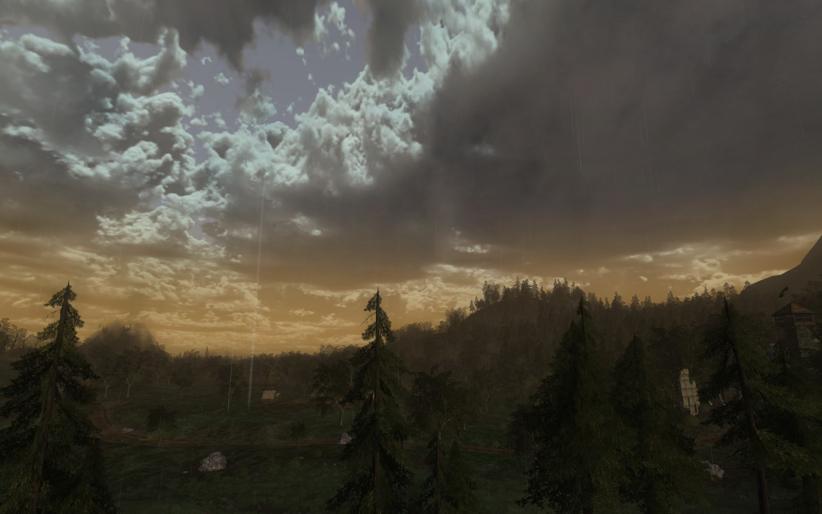 Lord of the Rings Online - Rain clouds over Rohan