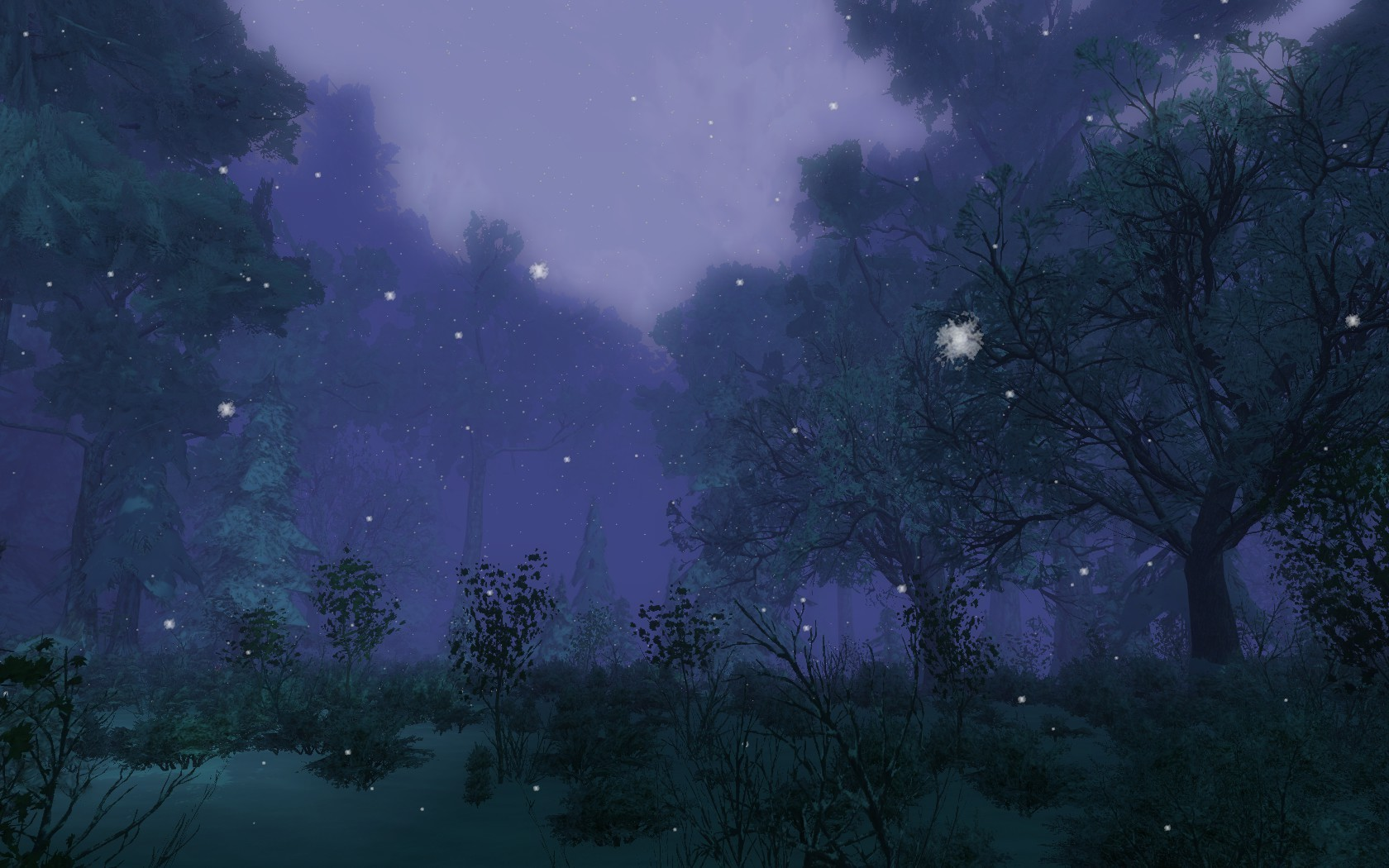 Lord of the Rings Online - The Balewoods at night
