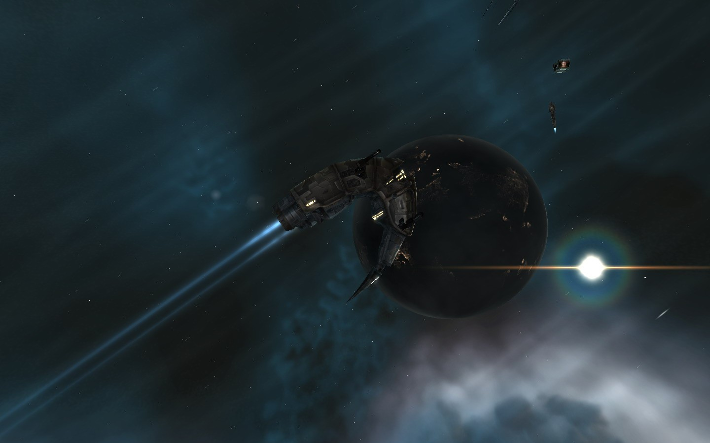 EVE Online - Passing the Planets by.