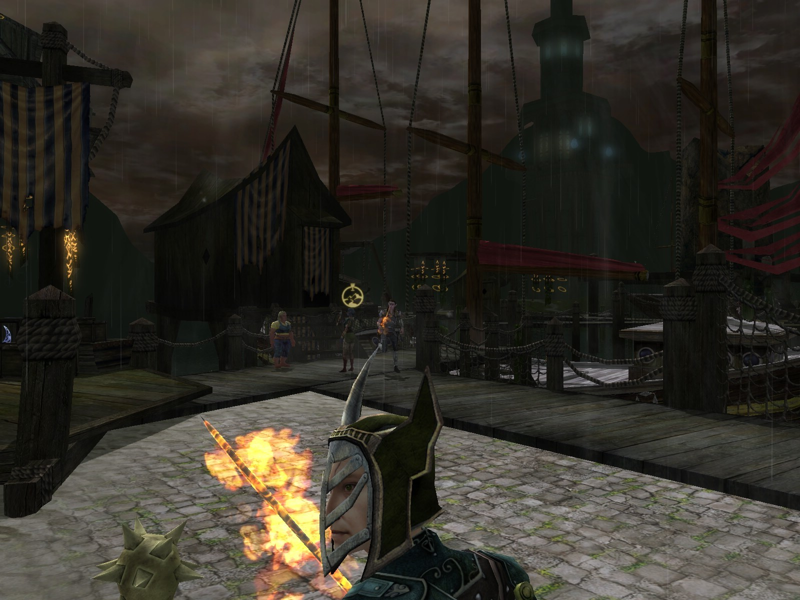 Dungeons & Dragons Online - DDO: Harbor's stormy today. Poor flame rapier.