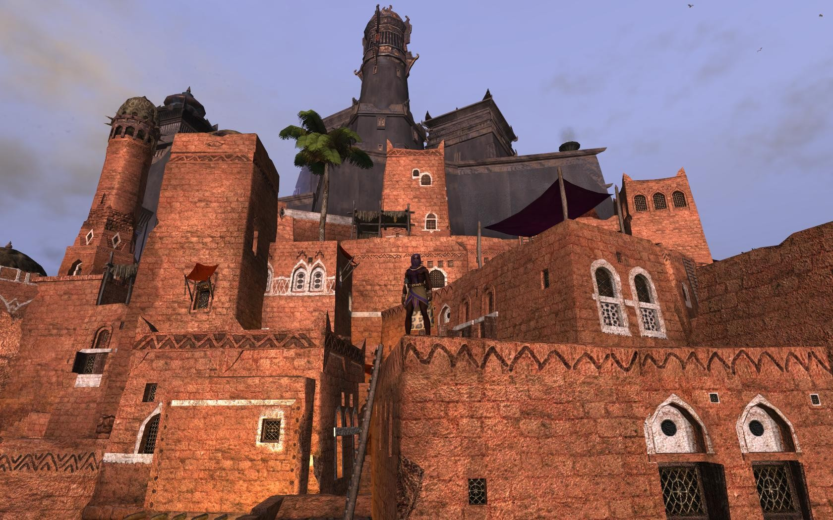 Age of Conan: Unchained - 21 Assassin on a roof in Khemi