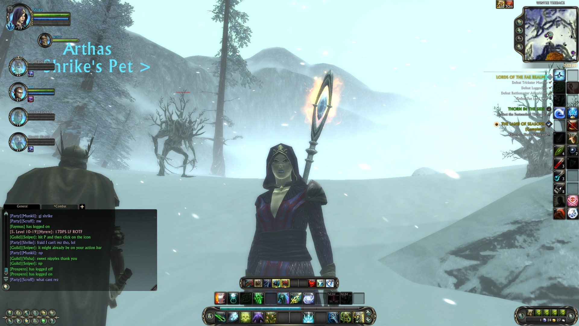 Rift - Waiting for my group to come back in the blustering snow