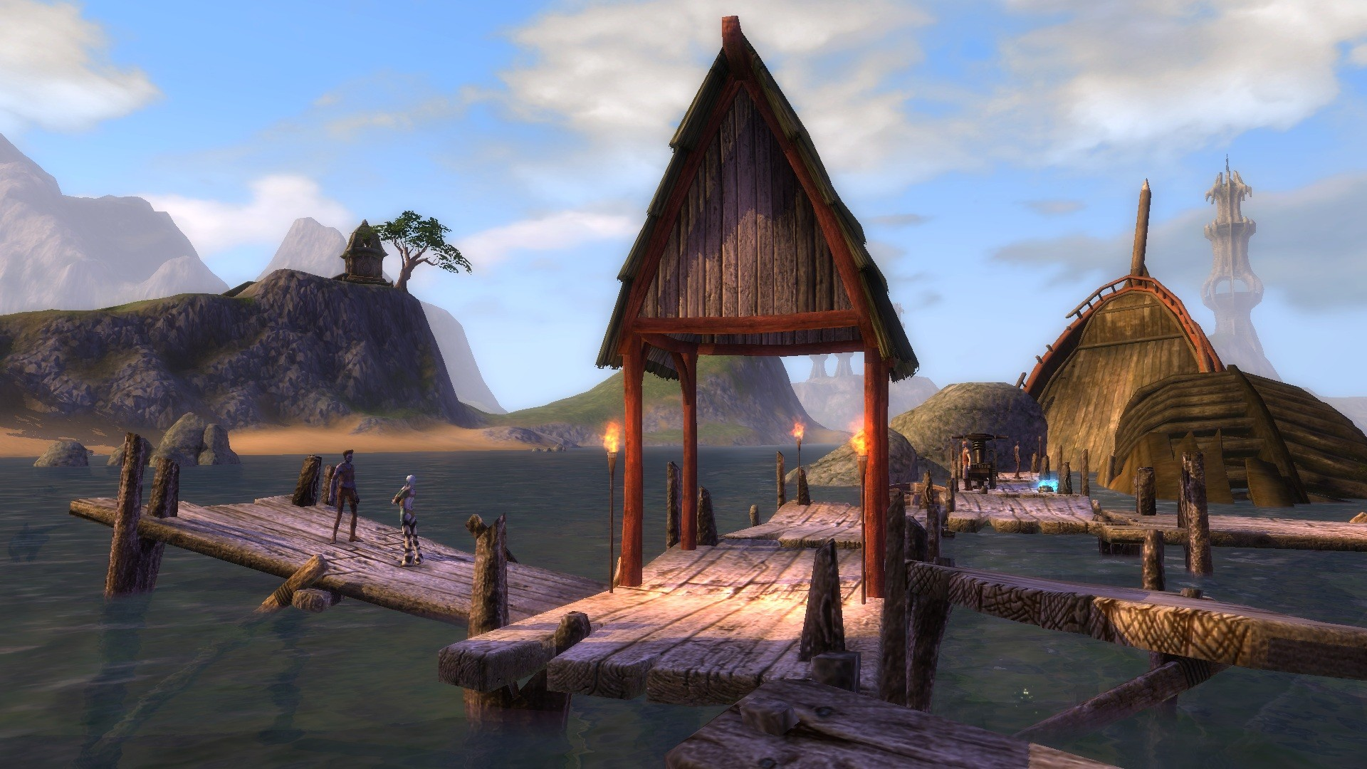 Rift - A broken pier is the perfect place for a conversation.