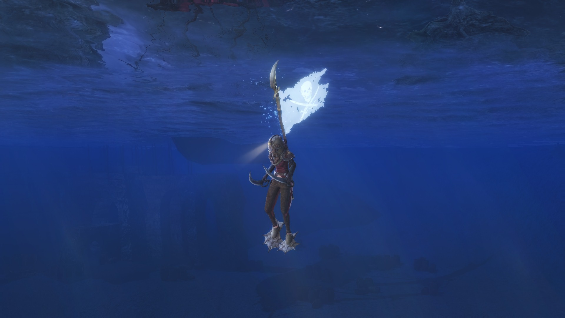 ArcheAge - crafted flippers increase swimming speed P. dunno what this flag is