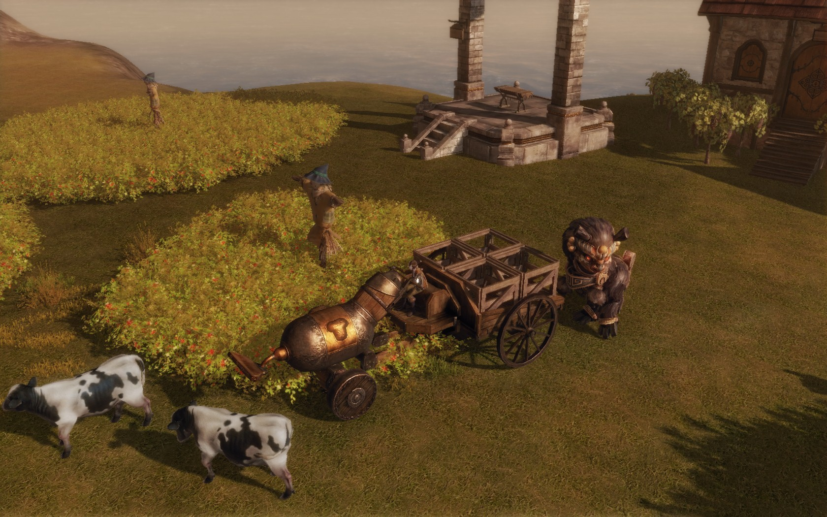 ArcheAge - player crafted tractor/ used for watering and carrying stuff